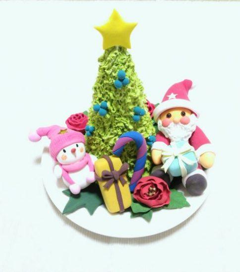 クレイ:サンタさん&スノーマン&X'masツリー