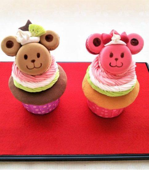 クレイ:ひな祭り カップケーキでお内裏さまとお雛さま