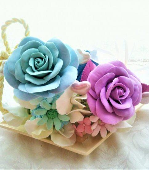 バラのお花でひな祭り