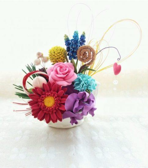 縁起アレンジメント お花で七福神