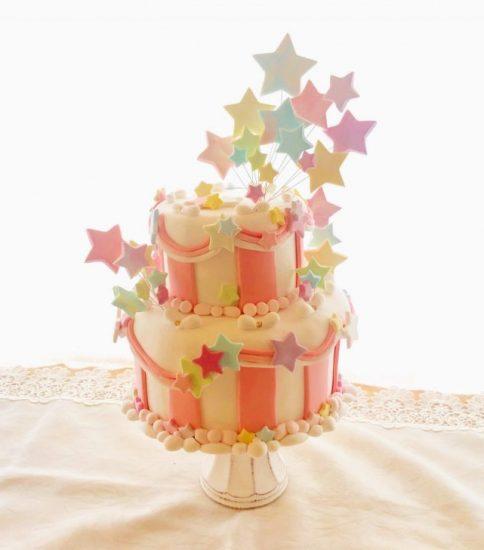 クレイオーダー:お星さまの2段ケーキピンクVer.